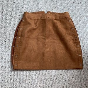 Adorable suede skirt!
